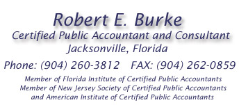 Robert E. Burke, Certified Public Accountant  and Consultant